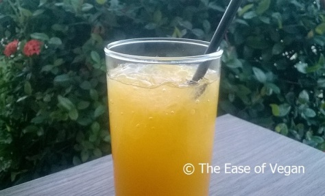 passion fruit and ginger iced tea