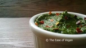 spicy vegan spinach dip - landsacpe wide