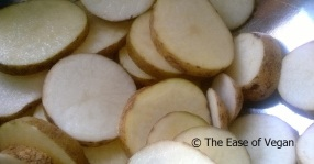 raw potato rounds