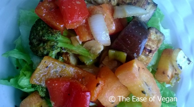 Roasted Vegetable Salad for your Meatless Mondays
