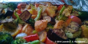 mixed vegetables after roasting