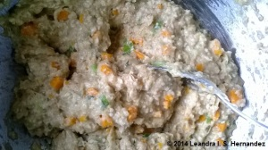 veggie patty wet mixture